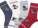 kinder sokken kort, paardjes op=op-0