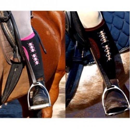 Sock Chaps zwart/ roze div, maten. OP=OP-5366