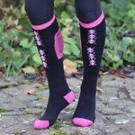 Sock Chaps zwart/ roze div, maten. OP=OP-0