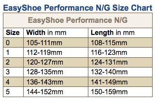 Easy Shoe Performance Nail / Glue, Maat 1, per paar-6440