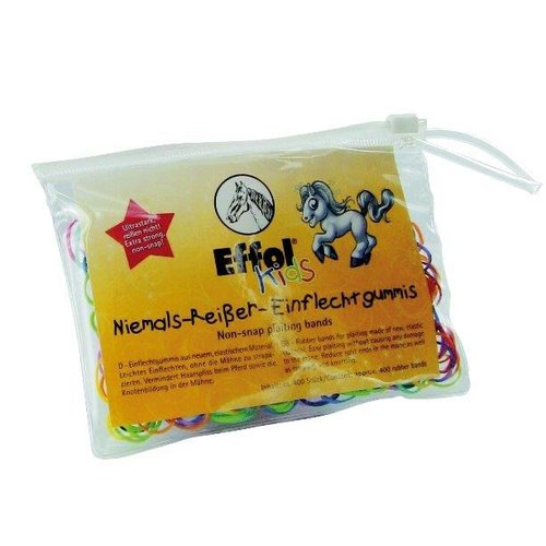 Vlecht elastiekjes 400 st, Colors, Effol Kids-0